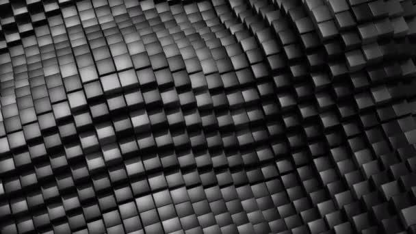 Datové krychle vytvořené vlnu. Abstraktní pozadí, 2 v 1, smyčky (301-600 snímků), vytvořené v rozlišení 4k, 3d animace