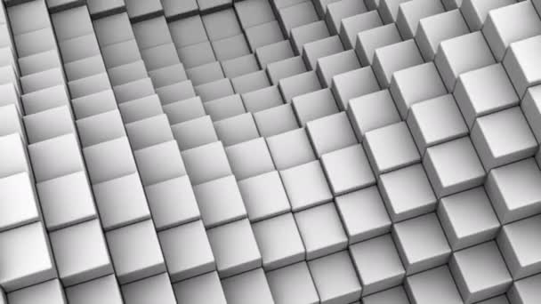 Würfel bildeten eine Welle. abstrakter Hintergrund, 2 in 1, Loop (301-600 Frames), erstellt in 4k, 3D-Animation