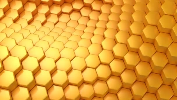 Hexagons Formed Wave Abstract Background Loop 301 600 Frames Created