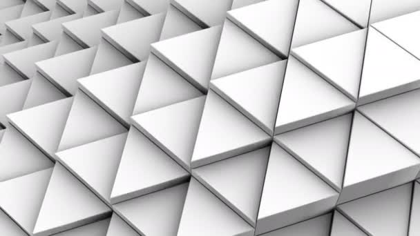 Dreiecke bildeten eine Welle. abstrakter Hintergrund, 2 in 1, Loop, erstellt in 4k, 3D-Animation