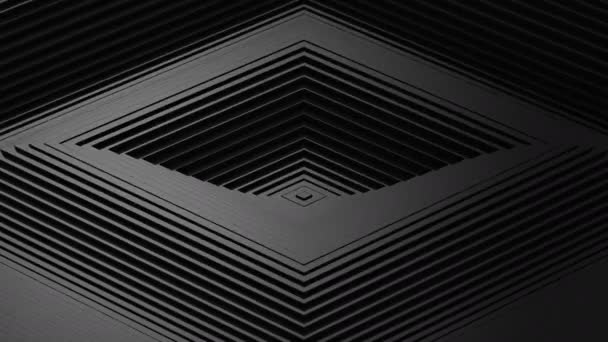 Rhombus Formed A Wave. Abstract background, 2 in 1, loop, created in 4K, 3d animation