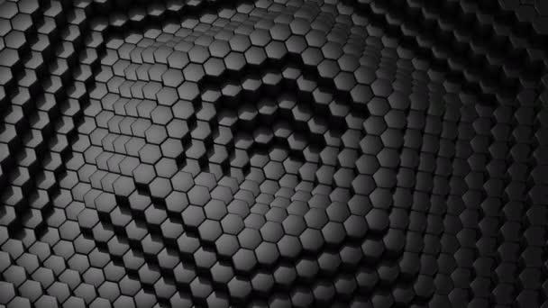 Sechsecke gebildet eine Welle. Abstrakt, Hintergrund, 2 in 1, Schleife, erstellt in 4k 3d Animation