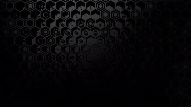 Hintergrund der Sechsecke. Abstrakter Hintergrund, 2 in 1, Loop, 3D-Rendering, 4k-Auflösung