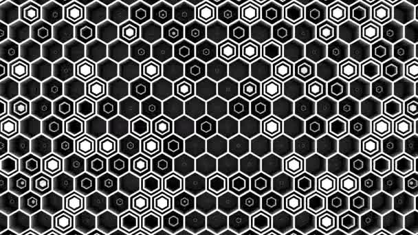 Hintergrund der Sechsecke. abstrakter Hintergrund, Loop, 3d-Rendering, 4k-Auflösung