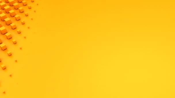 Kocka formáz egy hullámot. Absztrakt háttér, loop, 3d renderelés, 4k felbontás