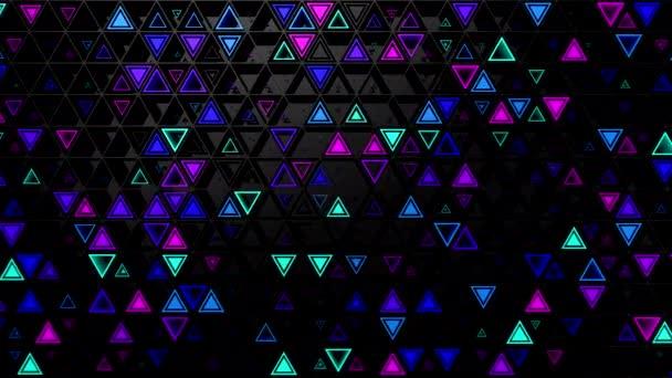 Hintergrund von Dreiecken. abstrakter Hintergrund, Loop, 3d-Rendering, 4k-Auflösung