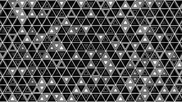 A háromszögek háttere. Absztrakt háttér, loop, 3d renderelés, 4k felbontás