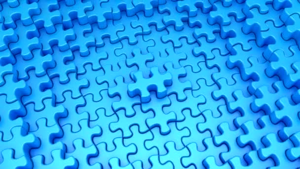 Puzzles Formed A Wave. Abstract background, 2 in 1, loop (151-450 frames), 3d rendering, 4k resolution