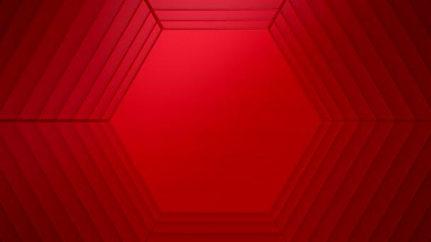 Hexagonok háttere. A szöveg vagy logó háttere, loop, 3d renderelés, 4k felbontás