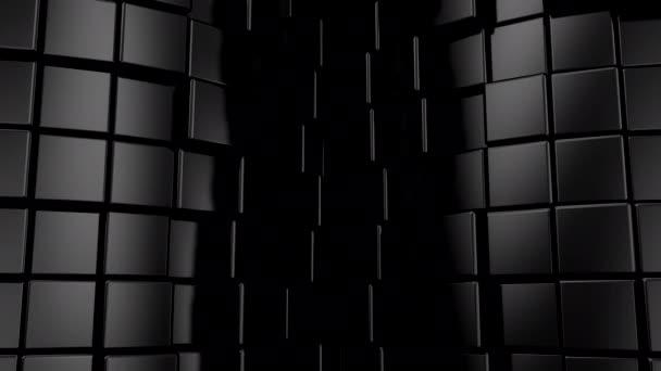 Hintergrund der Würfel. Abstrakte Bewegung, Schleife, 3D-Darstellung, 4k-Auflösung