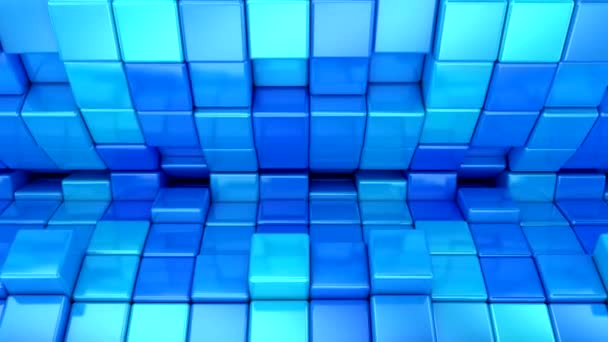 Background of Cubes. Abstract motion, loop, 3d rendering, 4k resolution