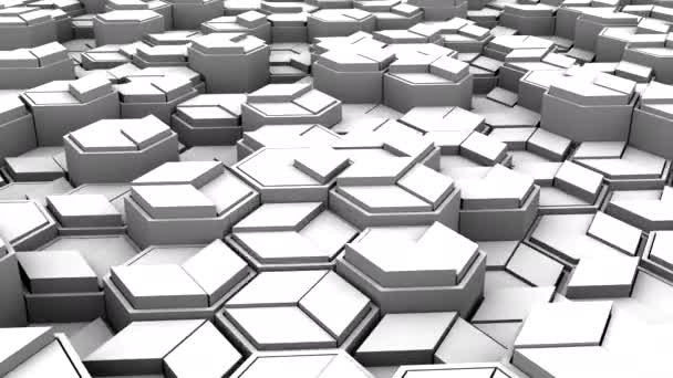 Background of Geometric Shapes. Abstract motion, loop, 3d rendering, 4k resolution