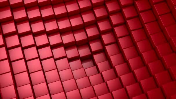 Kisten bilden eine Welle. Schleifenhintergrund, 5 in 1, 3D-Darstellung, 4k-Auflösung