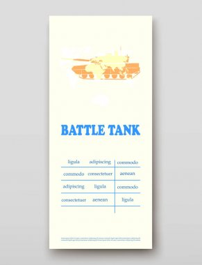 Battle tank leaflet cover presentation abstract, layout size technology annual report brochure flyer design template vector