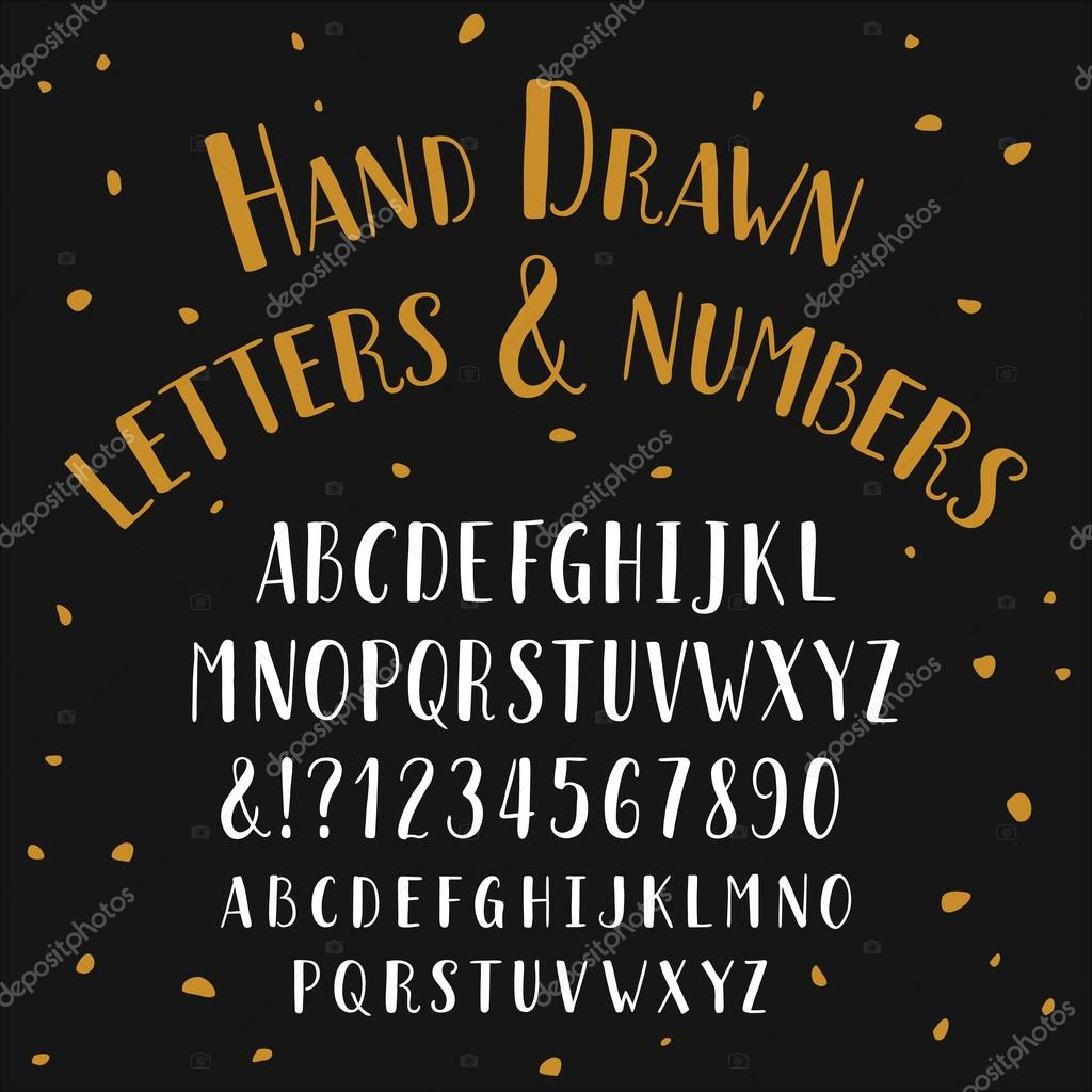 Hand drawn typeface alphabet vector font with small caps stock alphabet vector font with small caps stock vector biocorpaavc