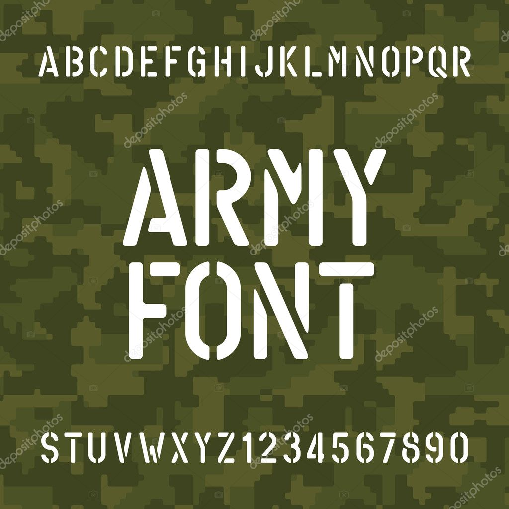 Army lettering   Army alphabet font  Stencil type letters