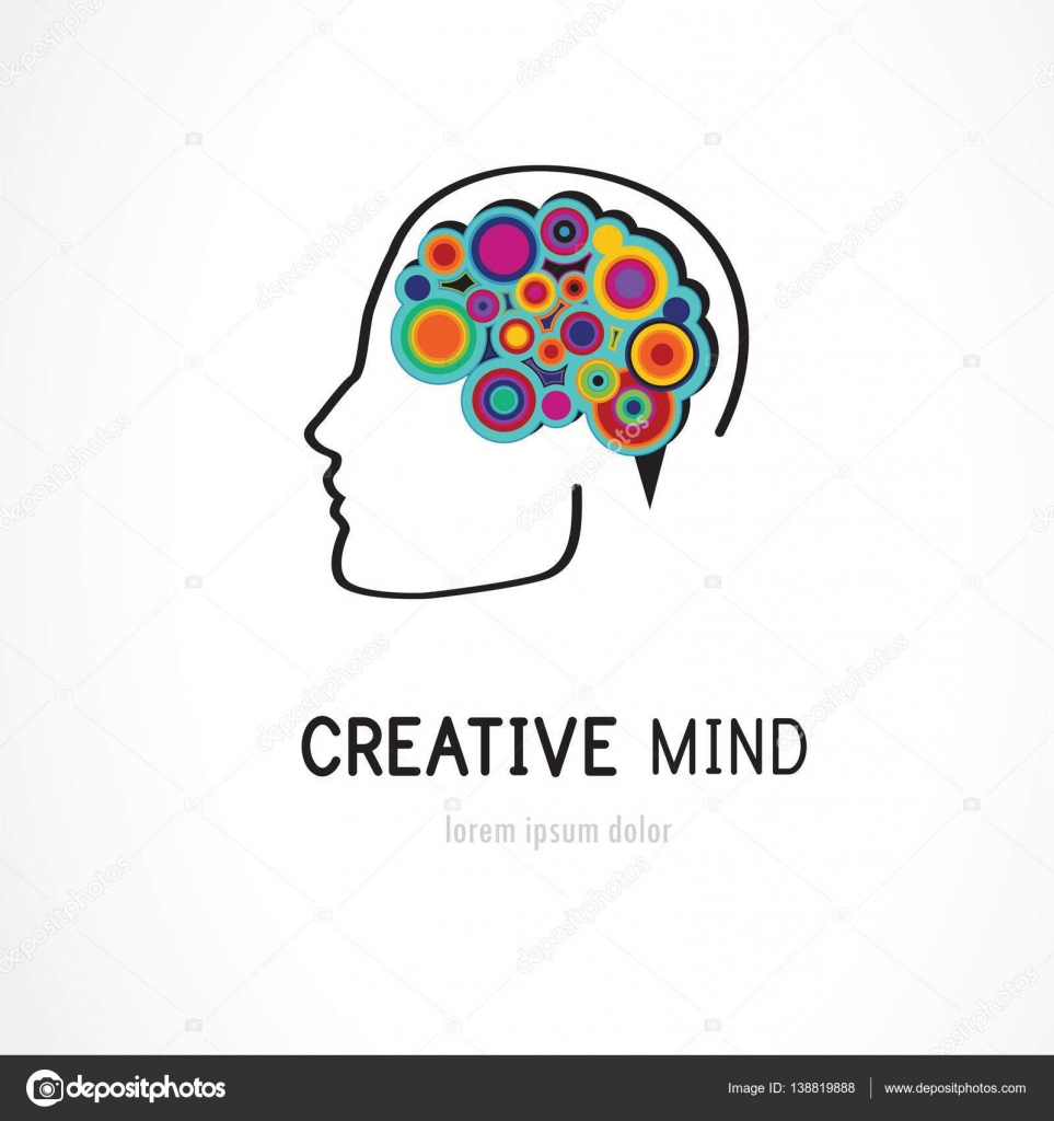 Creative digital abstract colorful icon of human brain mind creative digital abstract colorful icon of human brain mind brain symbol vector illustration vector by lipmic biocorpaavc Images