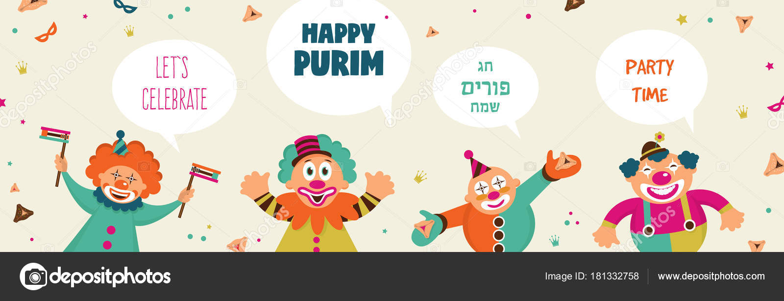 Purim banner template design jewish holiday vector illustration purim banner template design jewish holiday vector illustration happy purim in hebrew stock kristyandbryce Images