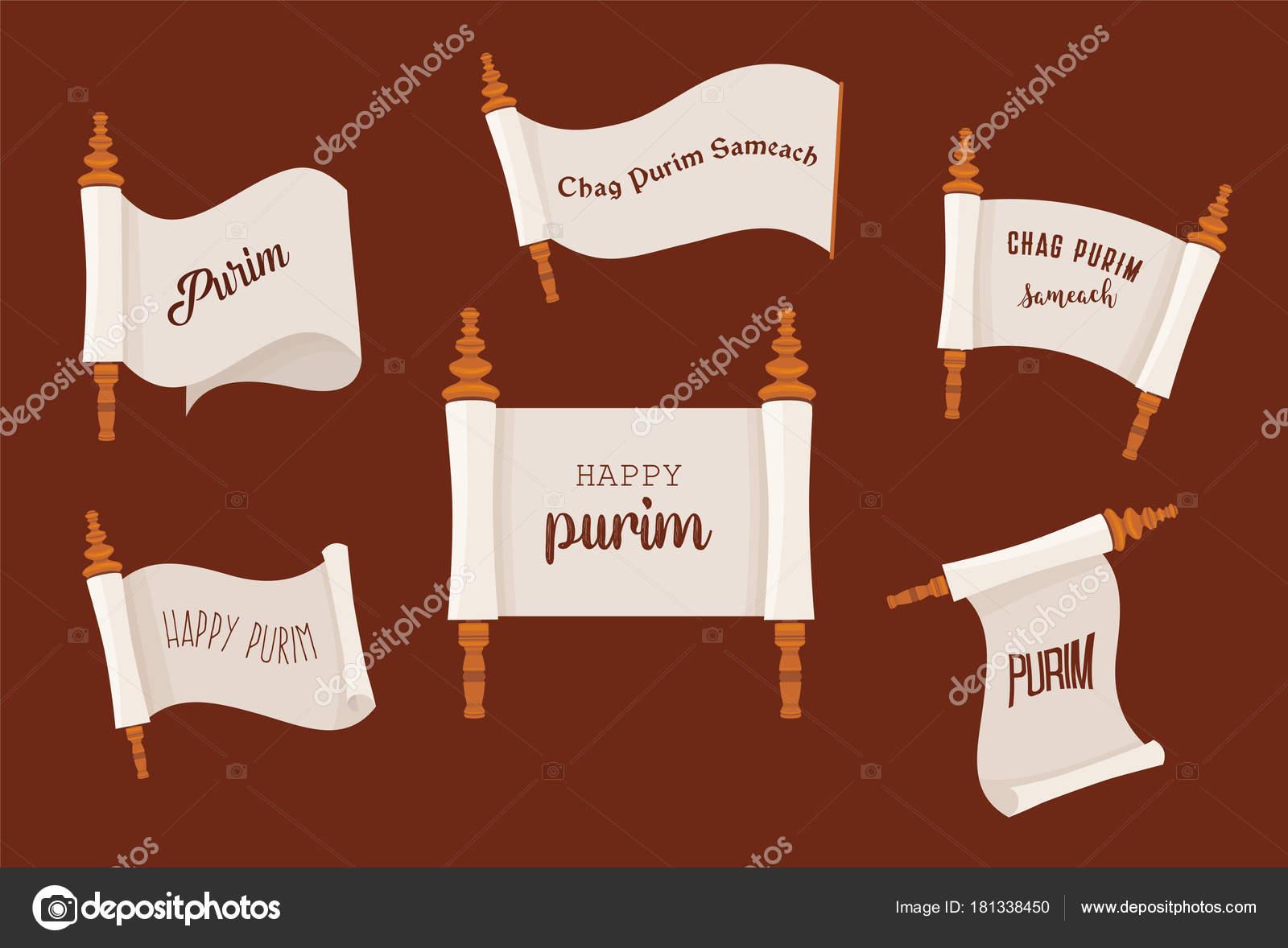 die Geschichte von Purim. Jüdischen Acient Scroll Reihe. Banner ...