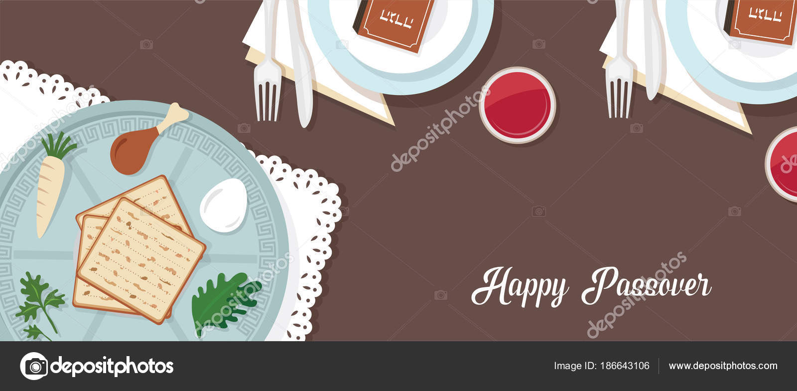 Traditional passover table for passover dinner with passover plate traditional passover table for passover dinner with passover plate vector illustration template banner design buycottarizona