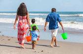 Mother Father Parents Boy Children Family Beach Fun