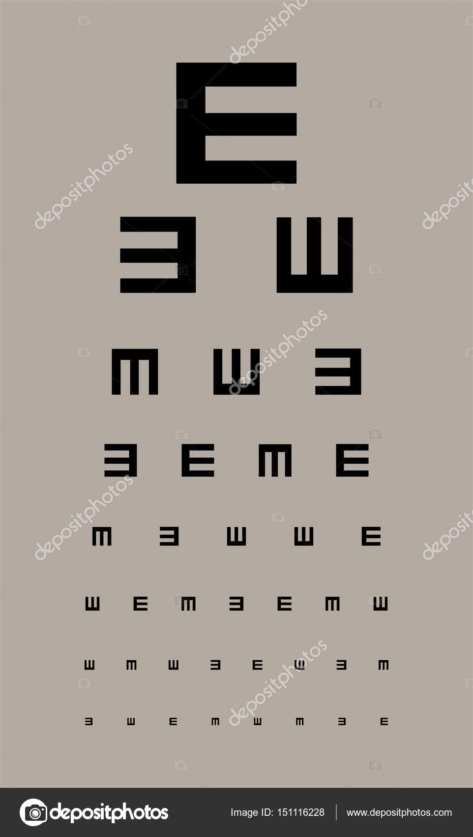 Eyes test chart stock vector vabadov 151116228 eyes test chart stock vector geenschuldenfo Image collections