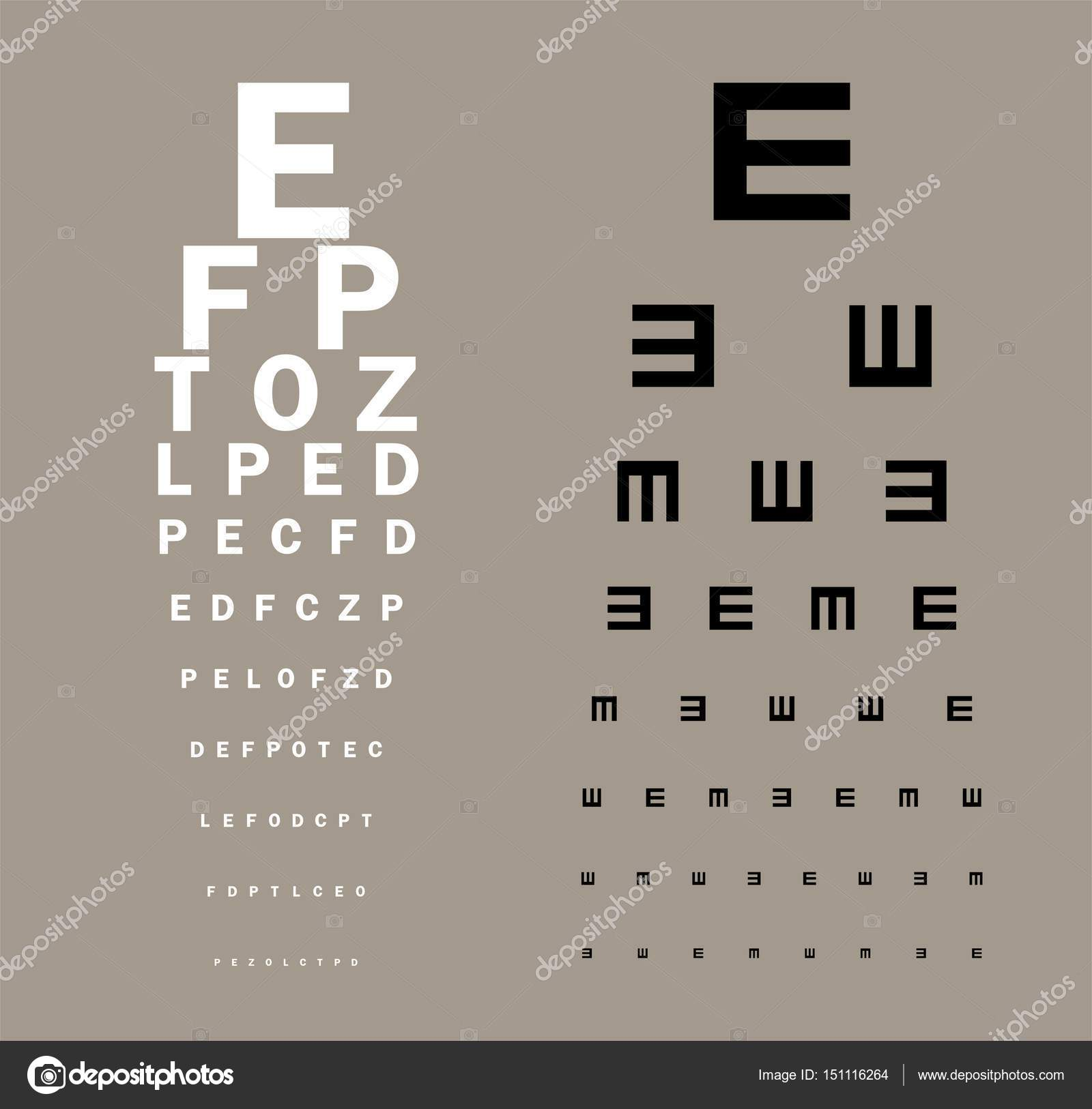 Eyes test chart stock vector vabadov 151116264 eyes test chart stock vector geenschuldenfo Image collections