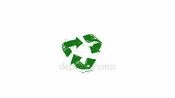 Recycle icon with rotating arrows (Seamless Loop Animation)