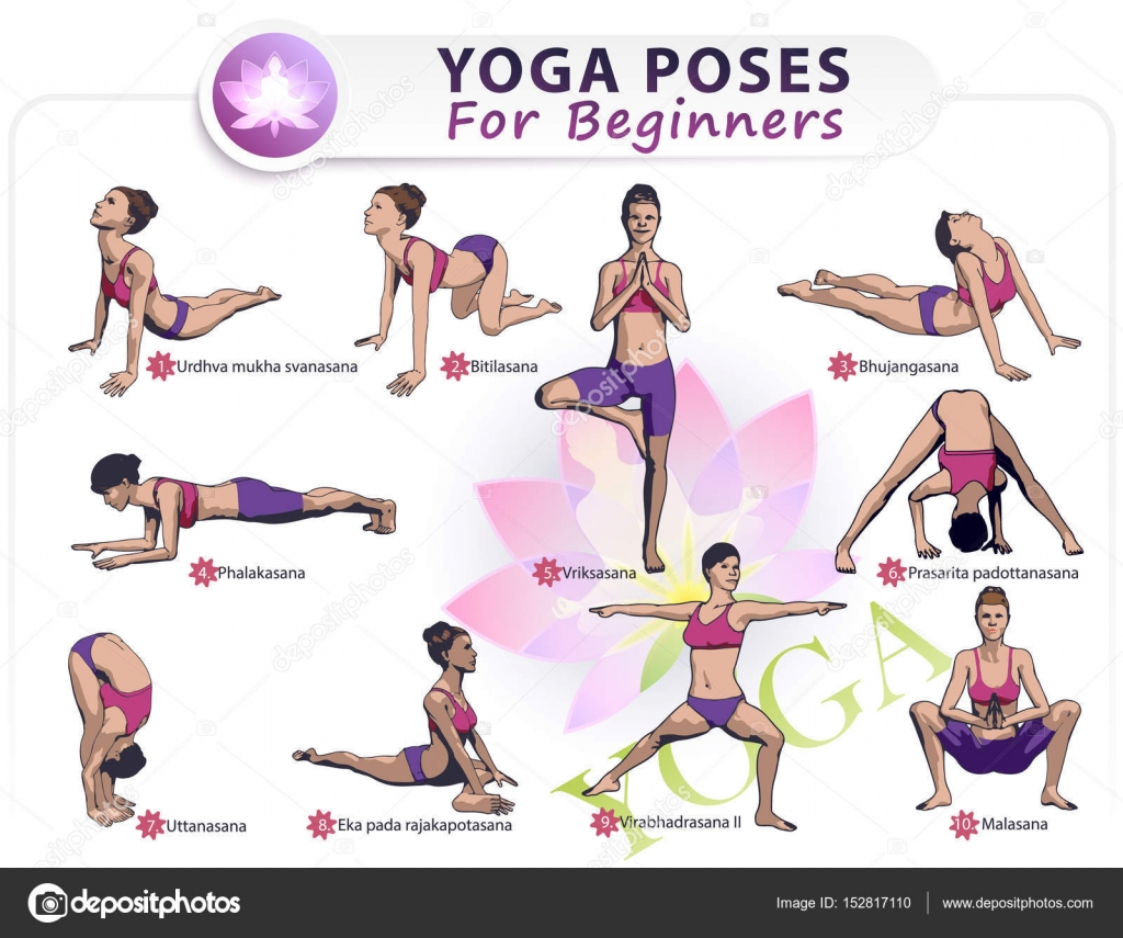 Suficiente Yoga para iniciantes Ii — Vetores de Stock © Sergey7777 #152817110 PA16