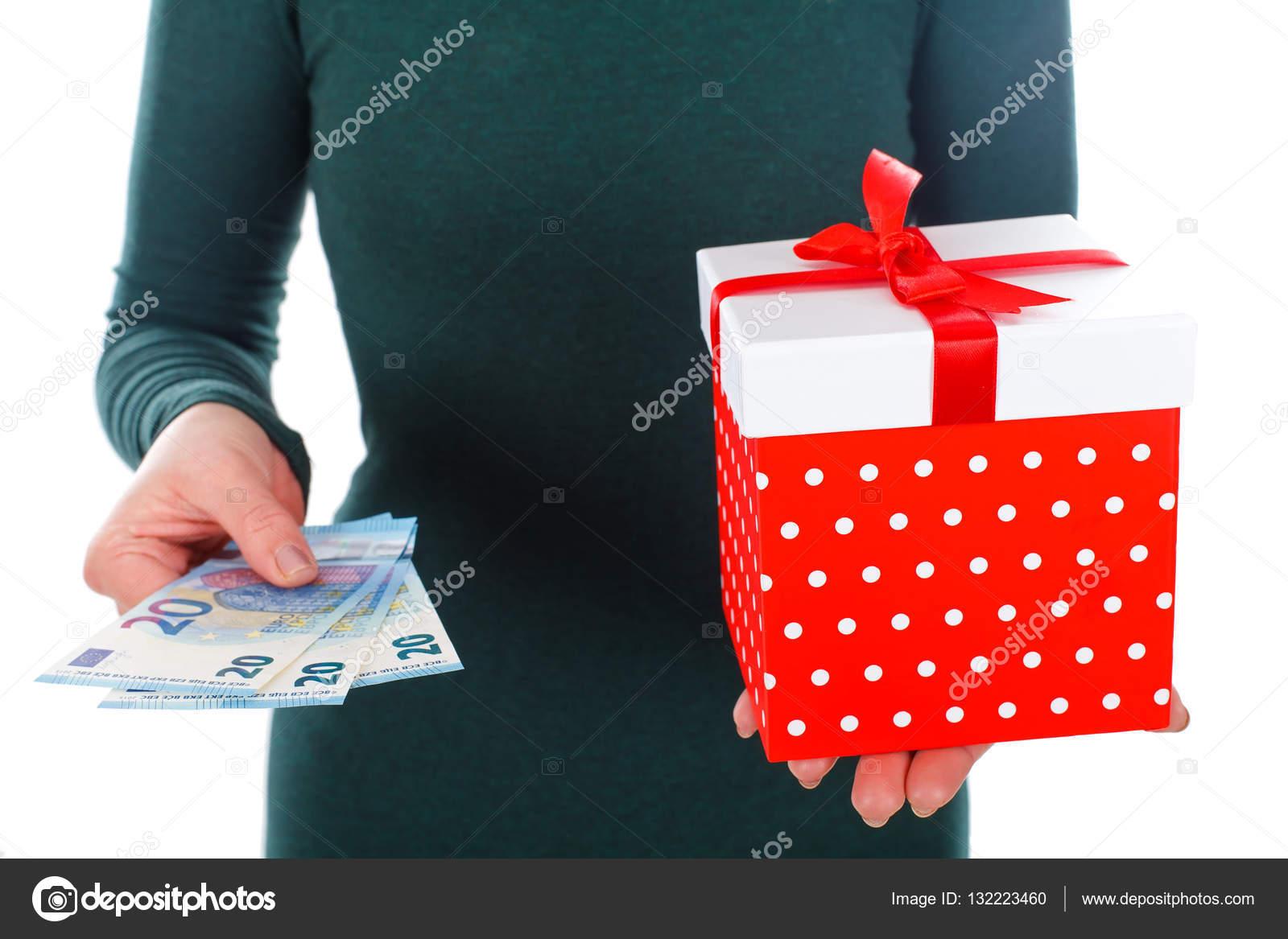 Ein schönes Weihnachtsgeschenk geht es nicht um das Geld — Stockfoto ...