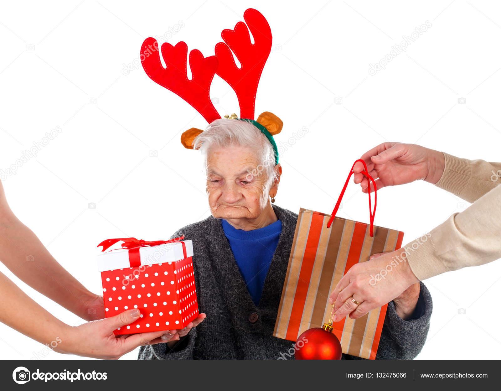 Regali Di Natale Per La Nonna.Regali Di Natale Per Una Bella Nonna Foto Stock C Ocskaymark