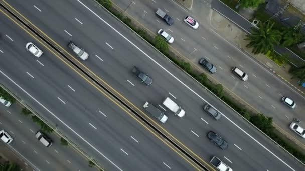 4K Aerial view of a highway