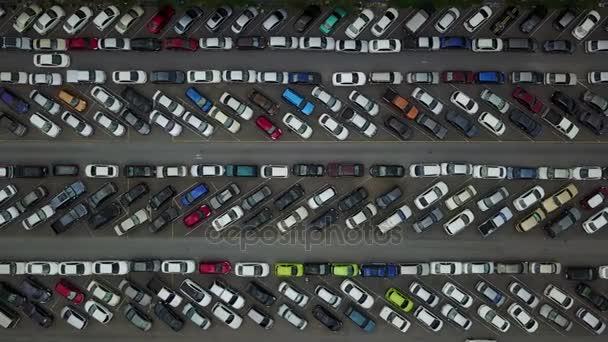 4K Aerial of parking lot