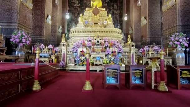 Buddha kép templom wat sutud, bangkok, Thaiföld