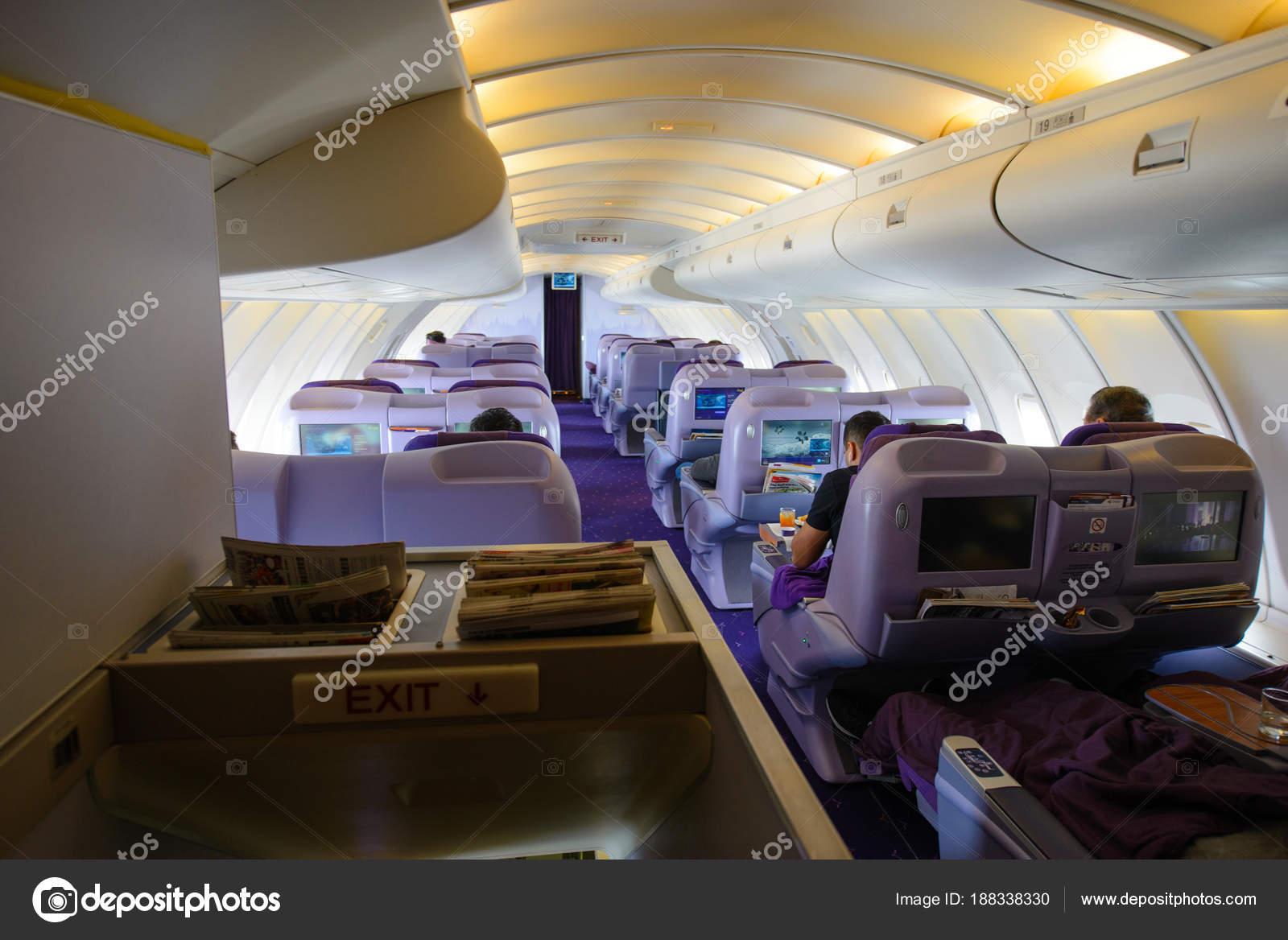 Bangkok Thailand October 2017 Interior Boeing 747 400 Business Class ...