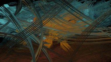 Digital painting of a strange landscape concept, surreal art illustration