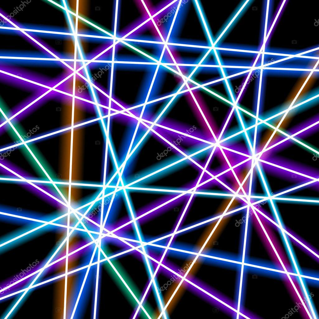 Lignes de fond Abstrait vector, plus lumineux, géométrie, technologie, fond d'écran neon — Image ...