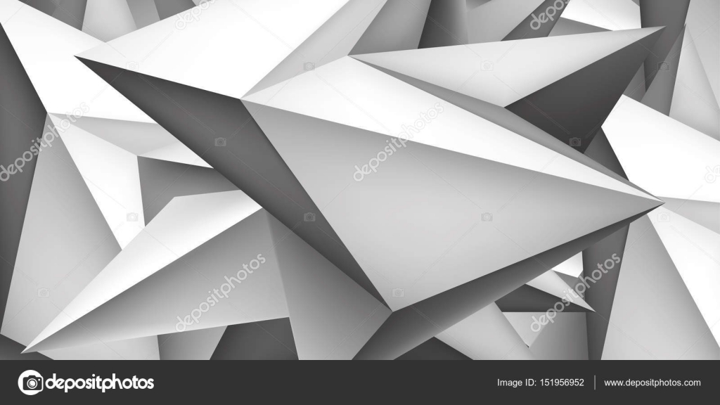 Shape And Form In Design : Volume geometric shape d crystal background abstraction low