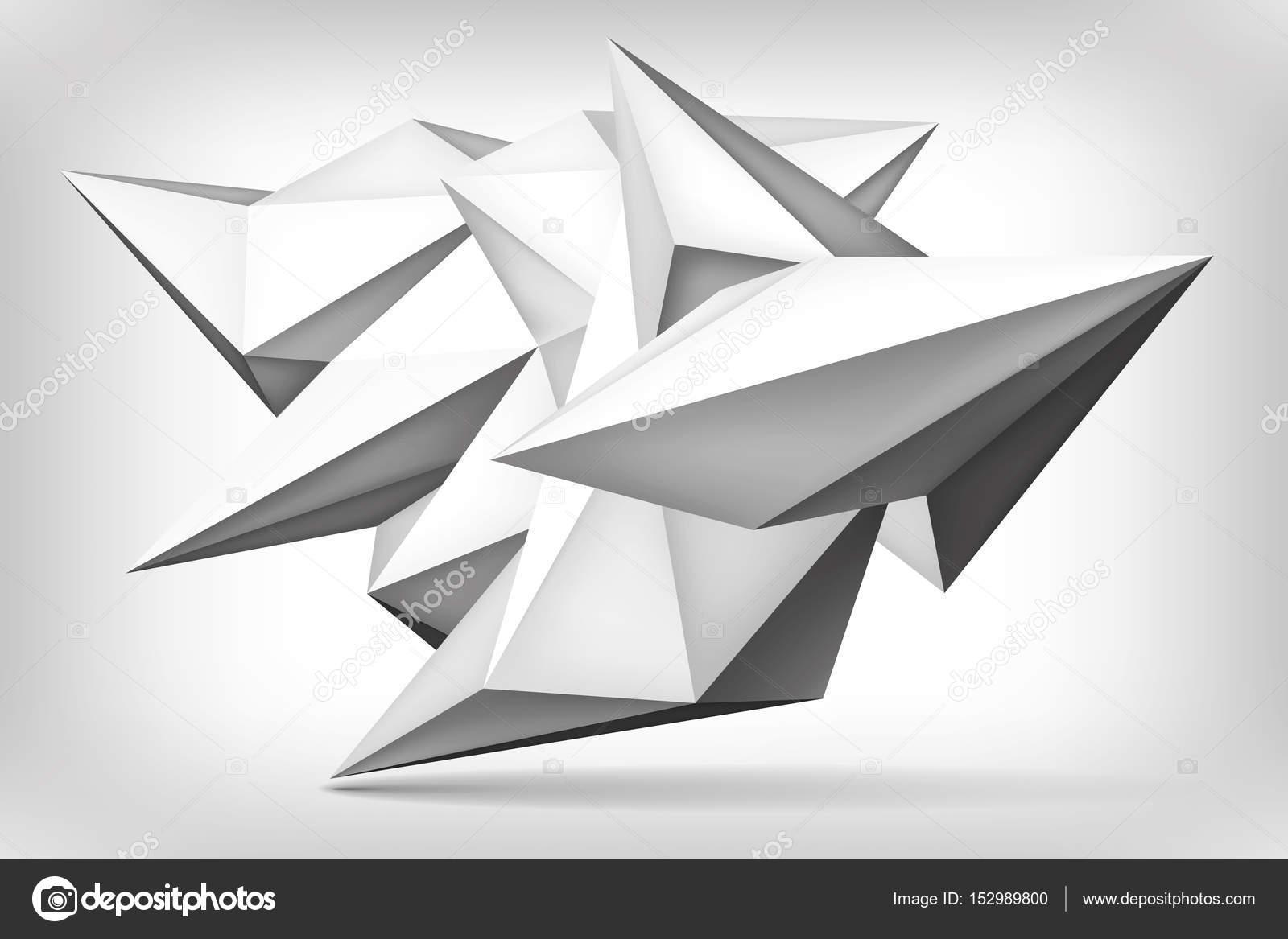 Forme Geometrique De Volume Objet De Peu De Polygones D Abstraction