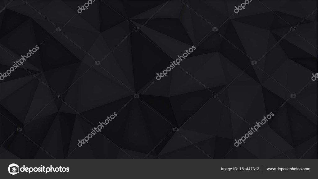 Low Polygon Shapes Black Background Dark Crystals Triangles
