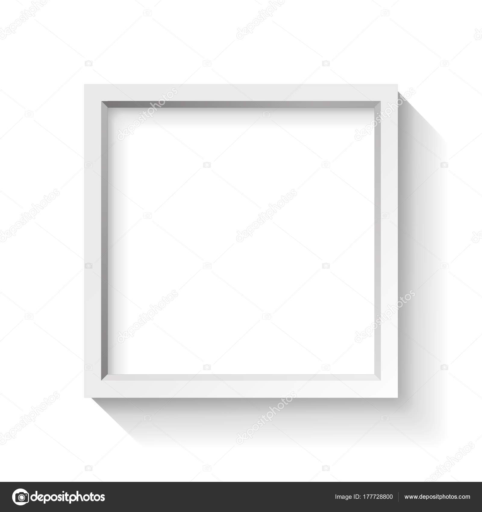 Realistic Empty Frame White Background Border Your Creative Project ...