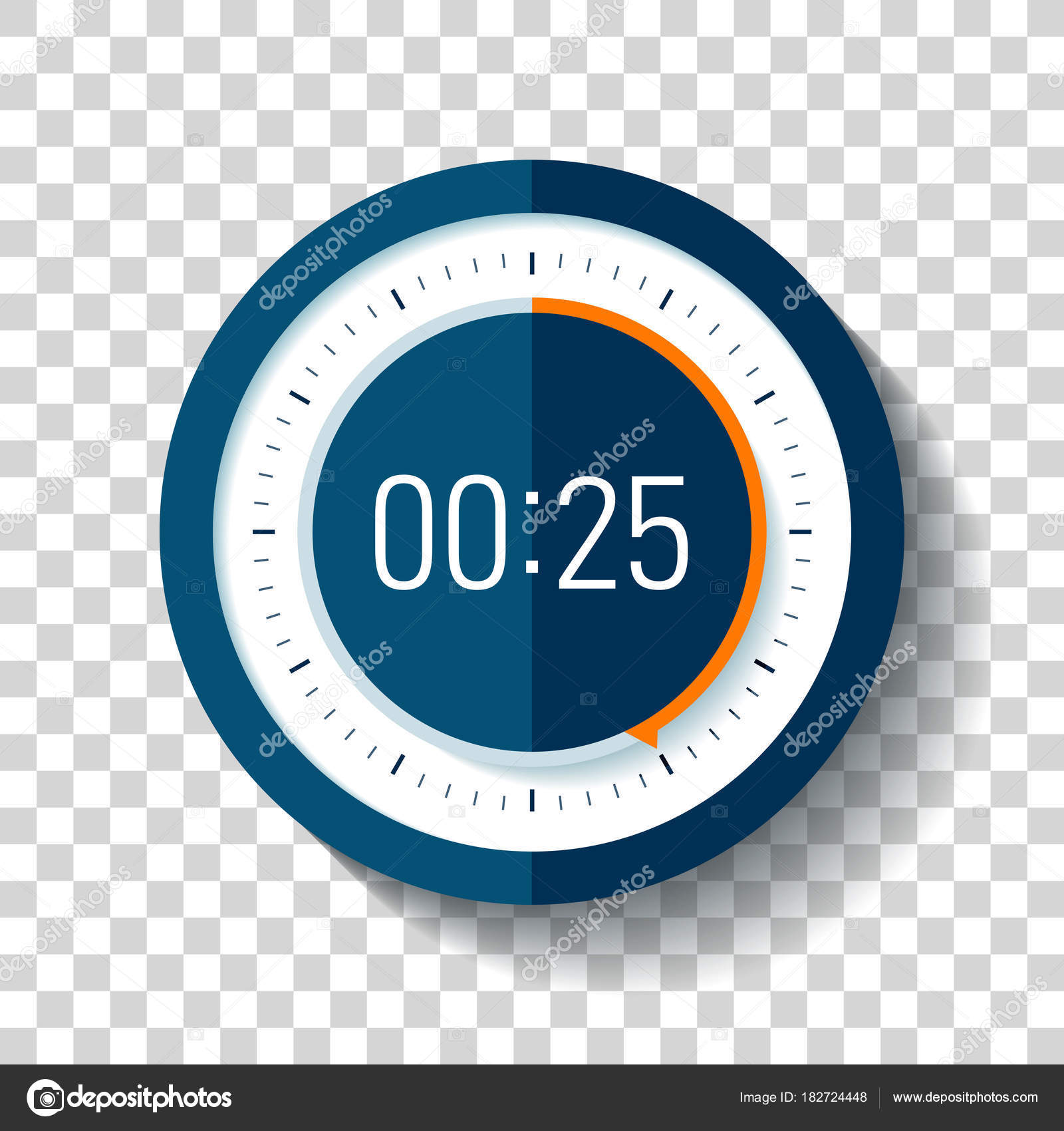 Icon: timer transparent   Stopwatch Icon Flat Style Timer