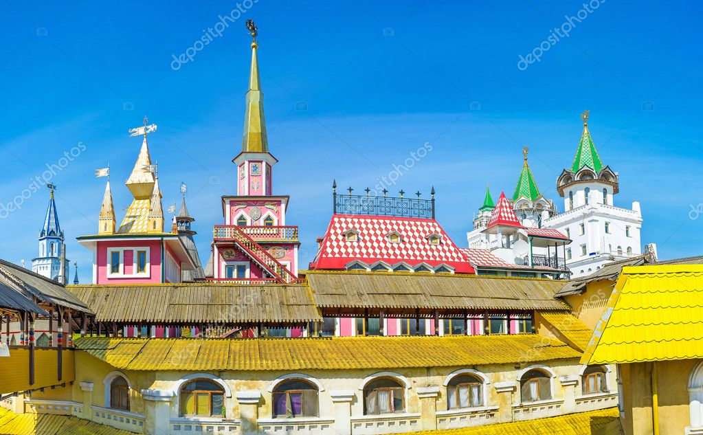 The Russian Architecture Of Izmailovsky Market Stock Photo