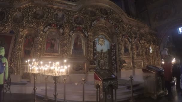 The carved golden iconostasis