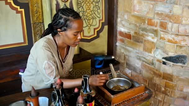 Ethnic coffee ceremony