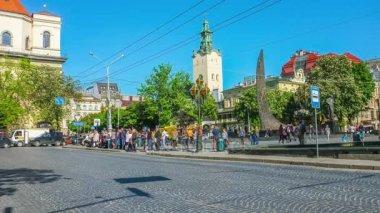 The Freedom Avenue (Prospekt Svobody) In Lvov