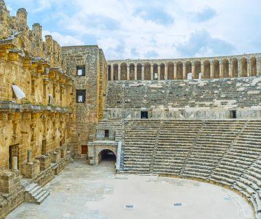 The Greco-Roman amphitheater in Aspendos
