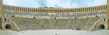 Panorama of Aspendos amphitheater