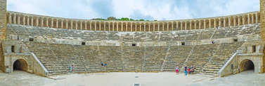 Panorama of Aspendos amphitheater
