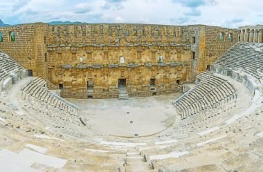 The ruins of Aspendos Amphitheater